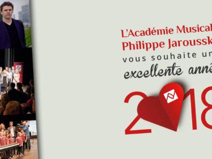 2018, une année qui s'annonce riche en émotions et en évènements pour l'Académie.