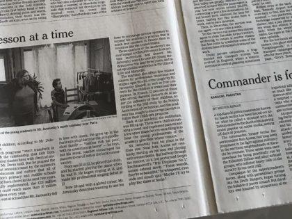 L'article sur le New York Times est sorti!